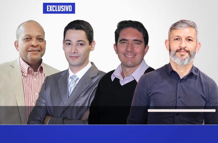 Carlos, Marco Aurélio, Luciano e Ricardo