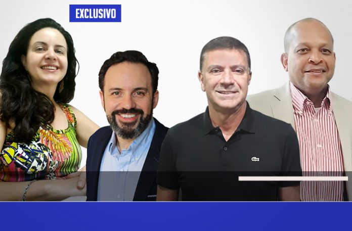Silvia, Bráulio, Vito e Carlos