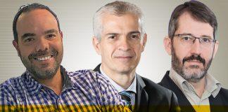 Carlo Saavedra, Celso Tonet e Marcos Calliari