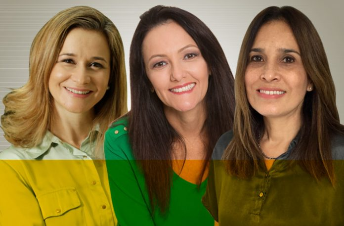 Tatiane Panato, Jaciguara Shibao e Ana Marcia Lopes