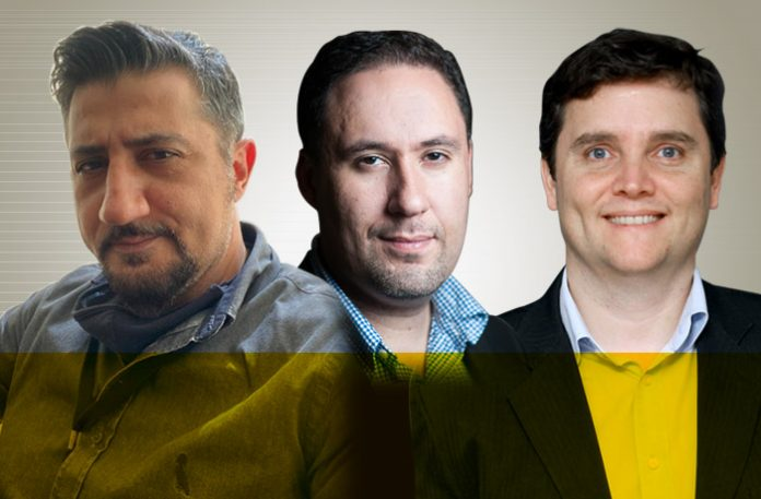 Fábio Bisacchi, Marcelo Augusto Oliveira e André Prevedel