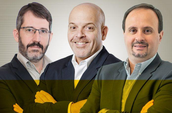 Marcos Calliari, Paulo Frossard e Fernando Gambôa