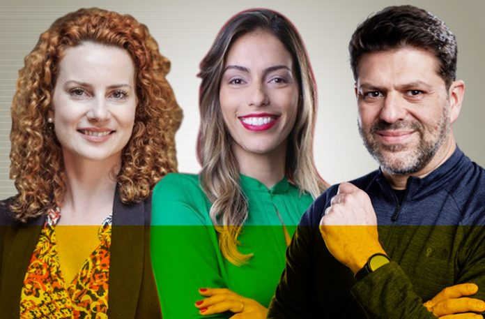 Pâmela Vaiano, Joice Cristina e Guilherme Jahara