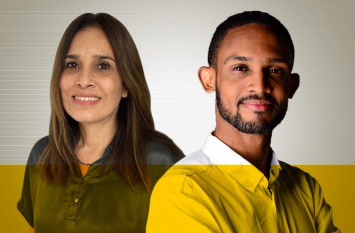 Ana Marcia Lopes e Cláudio Vinícius
