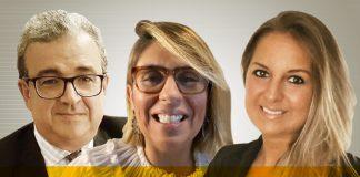 Sylvio Netto, Eliza Santos e Alessandra Agostini
