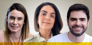 Melissa Kfouri, Roberta Isfer e Guilherme Sawaya