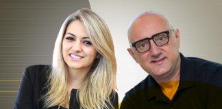 Talita Paschoini, diretora de tecnologia do LuizaLabs, e Romeo Busarello, vice-presidente de marketing e transformação digital da Tecnisa