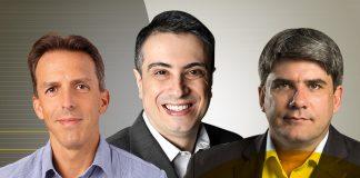 Alexandre Fontes, Mauricio Castro e Raul Moreira