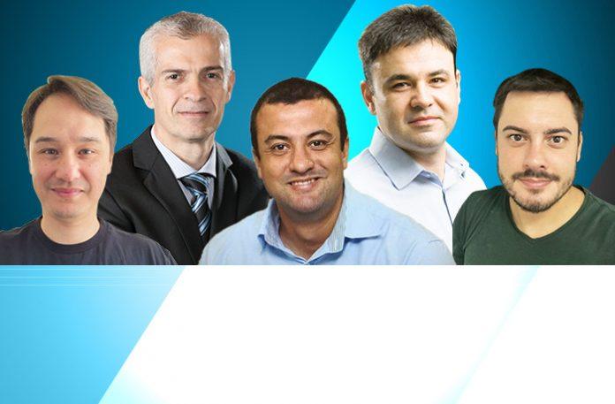 Eric Baravelli, Celso Tonet, João Gomes, Eduardo Morelli e Rafael Cintra