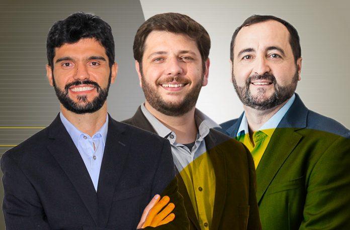 Diogo Elias, Romeu Escolástico e Alessandro Cogliatti