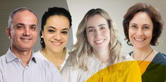 Marcos David Santos, Alessandra Silva de Oliveira, Paula Pimenta e Betania Gattai