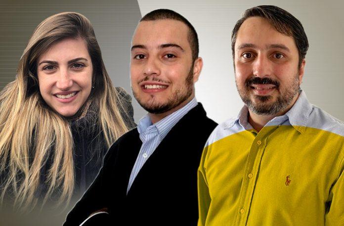 Paula Lorenzi, Augusto Palomo e Marcelo Vieira Barbosa