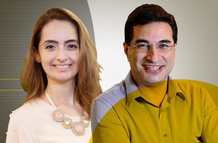 Dayneli Prado, head de CX do Digio, e Rodrigo Tavares, VP de customer journey da RecargaPay