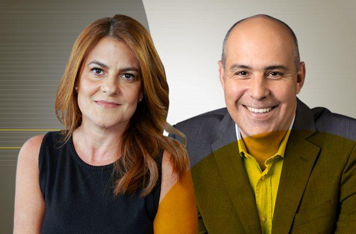 Carla Beltrão, da Vivo, e Geraldo Barra, da Stellantis