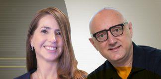 Beatriz Nóbrega, superintendente de gente, gestão e experiência do cliente da Digio, e Romeo Busarello, vice-presidente de marketing e transformação digital da Tecnisa