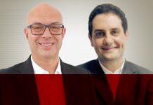 Roberto Valente, CEO da Interative Media, e Evaristo Mascarenhas, diretor de customer care da Tim