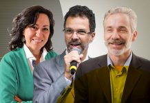 Nelmara Arbex, Marcio Couto Lino e Pedro Scorza