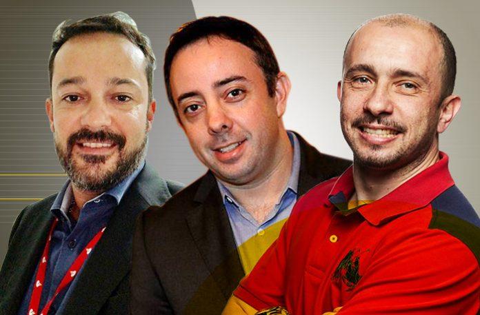 Glauco Modanezi, Ricardo Pena e Luciano Brandi