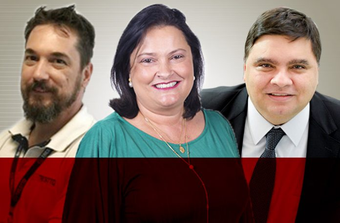 Marcos Trestin, CEO da Trestto, Sirlene Aveiro Honório, diretora de marketing e vendas do CPQD, e Luís Carlos Bento, CEO da Intervalor