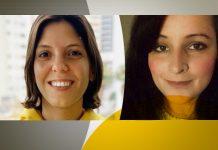 Paula Guz, head de operação da Draftline/Ambev, e Ana Carolina Ribeiro de Abreu, gerente de relacionamento com o consumidor da Salon Line
