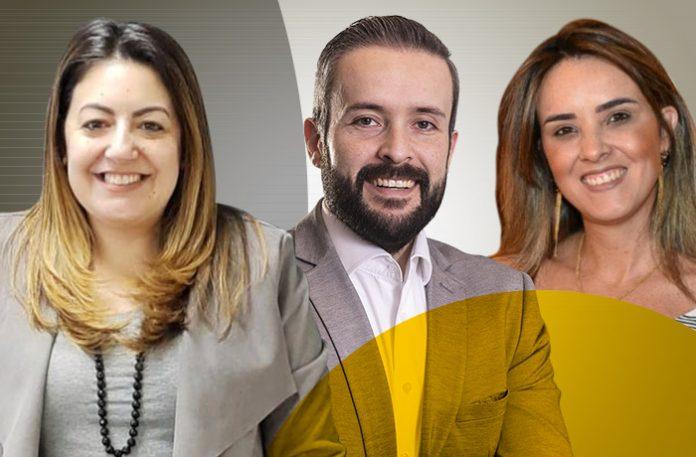 Maria Carolina Santos, Maurício Lambstain e Beatriz Dias