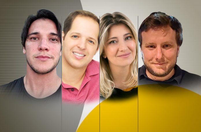Gabriel Reginatto, Amit Eisler, Monique Lima, e André Secco