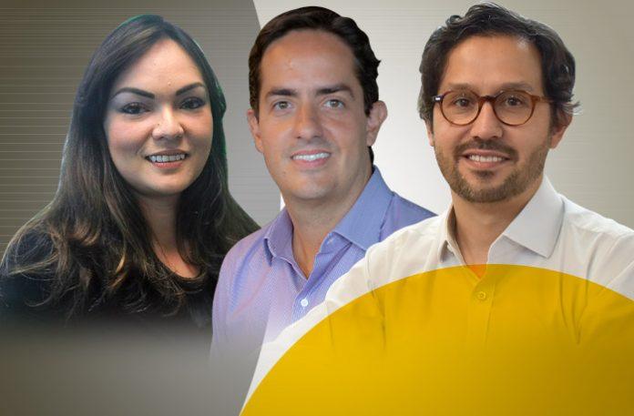 Lilian Rodas, head de prevenção de fraude do Banco Safra, Marcelo Scarpa, diretor-executivo do Digio, e Fábio Ramos, CEO da Axur