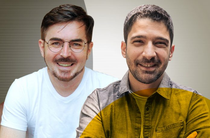 Ivan Cavilha, fundador e CEO da Yoface, e Daniel Hermann, diretor de expansão da Casai