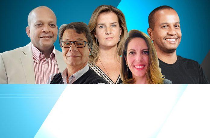 Carlos Mathias, José Nery, Thais Cordeiro, Cristiane Kakinoff, e Rafael Montenegro