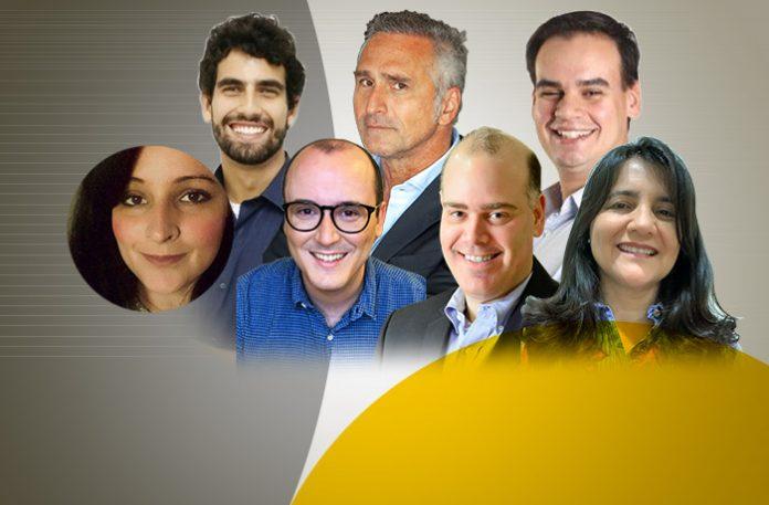 Ana Carolina Ribeiro de Abreu, Eduardo Lemos, Leonardo Chiarini, Luis Guilherme Prates, Marcos Riva, Marcelo Ribas e Soraia Fidalgo