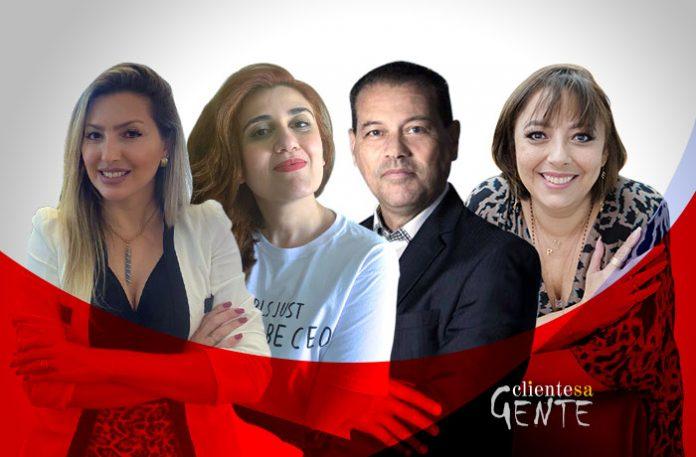 Dayane Almeida, Marina Hóss, José Francisco da Silva e Márcia Pollard