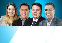 Maria Carolina Santos, Rodrigo Padilha, Renato Maglioni e Vladimir Valladares