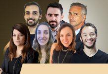 Alexandra Avelar, Ricardo Faustino, Márcia Martinez, Rafael Caetano, Danielle Chiuratto Godoy, Luis Guilherme Prates e Mateus Brum
