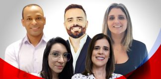 Alexandre Faria, Caroline Souza, Bruno Gouvêa, Patricia Vasconcelos Giacomo e Marcia Lassance